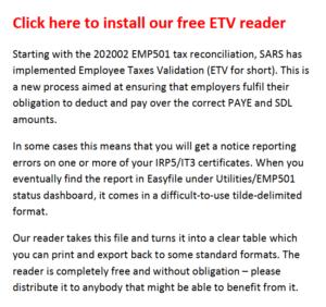 Download setup file for ETV Reader